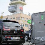 Enel si Aeroportul Timisoara au deschis prima statie de incarcare pentru masini electrice, intr-un aeroport